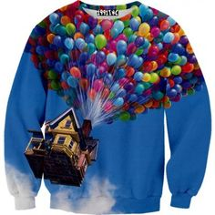 up balloon house sweater