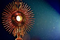 """""""God dwells in our midst, in the Blessed Sacrament of the altar."""" - St. Maximilian Kolbe"""