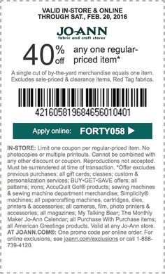 1512 Coupons And Deals Pinterest Jo Omeara Crafts And Fabrics