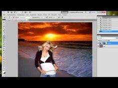 Маска слоя в Фотошопе, как легко соединить картинки - YouTube