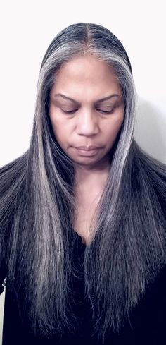 """Not to be confused with """"Shades"""" of Gray, but that applies here too…you'll see. So, you've decided to let the silvers shine…now what? Well, one of the most excit… Grey Hair Don't Care, Long Gray Hair, Shades Of Grey, Silver Haired Beauties, Silver White Hair, Grey Hair Inspiration, Natural Hair Styles, Long Hair Styles, Dye My Hair"""