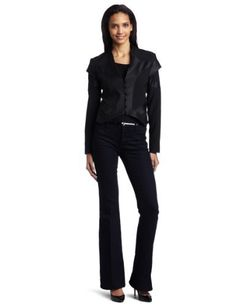 Georgie Women's Ainsley High Shine Twill Jacket Georgie. $97.71. Ainsley high shine blazer. Made in USA. 58% Nylon/33% Polyester/9% Rayon; 100% Polyester. Black twill. Dry Clean Only