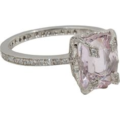 Cathy Waterman  Kunzite & Diamond Ring  $5,430.00