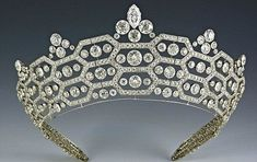 The spectacular Greville Tiara, left to the Queen's mother by society hostess Mrs Ronnie Greville.