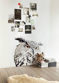 Magnetic wallpaper with friendly animals by Groovy Magnets - http://www.woonmodetrends.nl
