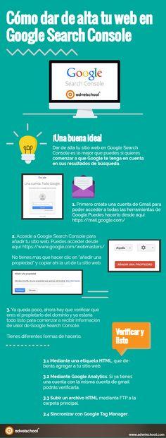 Hola: Una infografía sobreCómo dar de alta tu web en Google Seach Console…