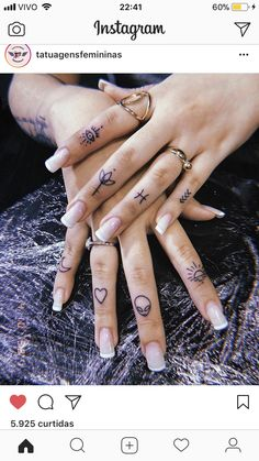 Nurse with Hand Tattoos . Nurse with Hand Tattoos . Hand And Finger Tattoos, Finger Tattoo Designs, Hand Tattoos For Women, Finger Tattoos For Girls, Nurses With Tattoos, Finger Dot Tattoo, Female Hand Tattoos, Little Tattoos, Mini Tattoos