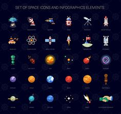 Space Icons and Illustrations on Behance