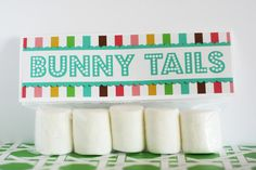 Bunny Tails- marshmellows