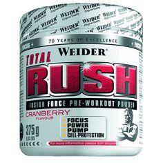 Weider - TOTAL RUSH Para potenciar el entrenamiento y la congestión muscular. Tomar antes de entrenar.