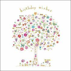 In Bloom Pretty Floral Female Birthday Card By Kim Anderson
