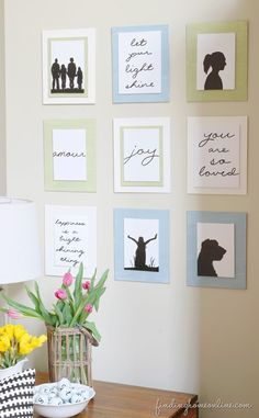Silhouette Gallery Wall - a quick and easy wall art idea and easy to change. #damagefreediy #ad