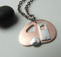 Mini Let's Go Camping copper and sterling silver by silentgoddess, $36.00