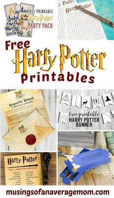 Harry Potter Printables Free Harry Potter printables including games, activities, birthday printables and more! Baby Harry Potter, Harry Potter Baby Shower, Harry Potter Enfants, Harry Potter Motto Party, Harry Potter Party Games, Harry Potter Activities, Harry Potter Invitations, Harry Potter Thema, Harry Potter Party Decorations