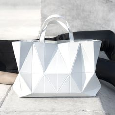 Origami Handbag - graphic minimal bag, geometric fashion design // FINELL