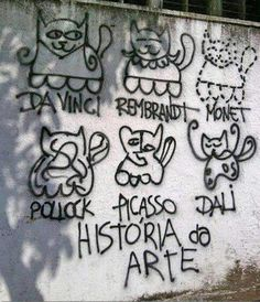 Famous artists are street art cats...genial!