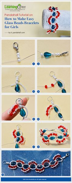 Tutorial on How to Make Easy Glass Beads Bracelets for Girls from LC.Pandahall.com