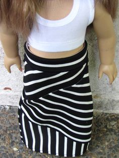 American Girl Doll Crazy Mixed Up Stripes Maxi Skirt and Cropped Tank – Avanna Girl