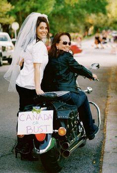 Bold femlae lesbian biker chick