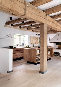 Current kitchen design for the year 2016 - 35 kitchen pictures - rustic kitchen modern country kitchen made of wood - Minimalism Interior, Kitchen Inspirations, House Design, Interior Design Kitchen, Beautiful Kitchen Designs, House Interior, Beautiful Kitchens, Kitchen Interior, Oak Kitchen