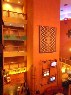 Interior of the unique Nativo Lodge, Albuquerque, New Mexico. This is a wonderful place to stay! - Photo by Ronni