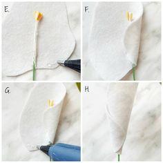 Felt Flower DIY with Free Pattern - Calla Lily