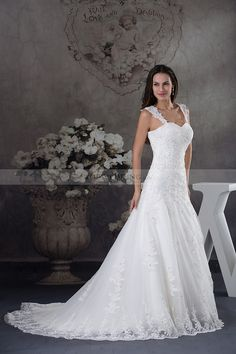 Princess Wedding Gown with Lace Overlay