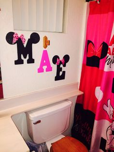 My daughters initials for her Minnie Mouse bathroom!!!
