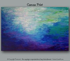 Large wall art Abstract painting Giclee canvas by ArtFromDenise