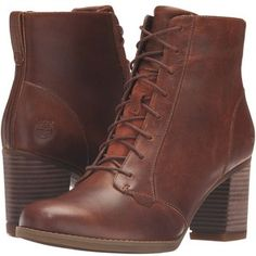 Timberland Atlantic Heights Lace Chukka Boot (Medium Brown Full Grain) Women's Lace-up Boots