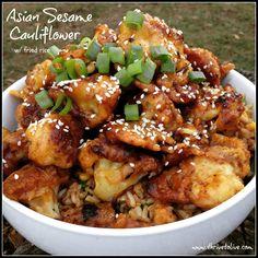 Asian Sesame Cauliflower | Thrive: Faith, Family & Food