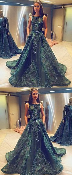A Line Prom Dresses with Pockets,Princess Prom Dresses,Long Prom Dress,Tulle Evening Dress,Hunter Green Sleeveless Prom Dress#green#tulle#princess#pockets#evening#dress