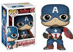 Amazon.com: Funko POP Marvel Avengers 2: Captain America: Funko Pop! Marvel:: Toys & Games