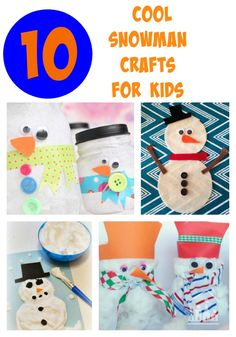 10 cool snowman crafts for kids. Snow isn't the only way to build a snowman. If you don't have access to the cold stuff, raid your craft supplies instead and paint or make your own snowman, whilst you keep warm and cosy inside.