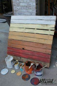 An OMBRE Pallet Project for Your Fall Porch