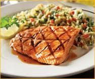 Romano's Macaroni Grill Copycat Recipes: Salmon with Spinach Orzo