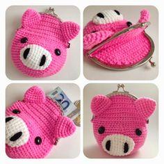 6 όμορφα σχέδια για πορτοφολάκια για κέρματα       πλεκτά με το βελονάκι          6 lovely patterns of crochet co...