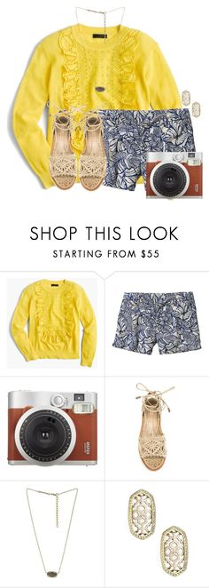 """""""Just got this camera:)"""" by flroasburn ❤ liked on Polyvore featuring J.Crew, Patagonia, Fujifilm, Paloma Barceló and Kendra Scott"""