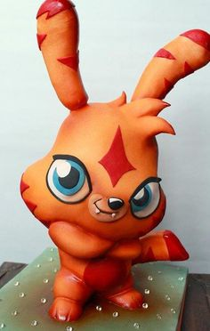 Moshi Monsters Katsuma sculpted cake