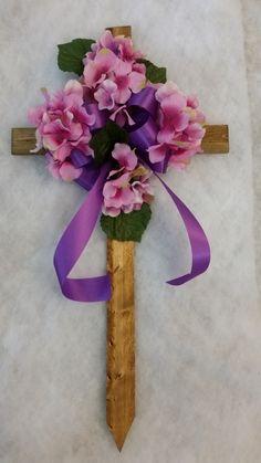 Silk Flower Cemetery Cross $20.00                                                                                                                                                     More