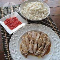 Foto recept: Hainan kip met rijst