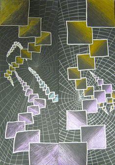 ABC School Art: Shrinking Squares (5th)
