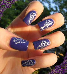 Secretly in love with nail polishes: Purple and swirl
