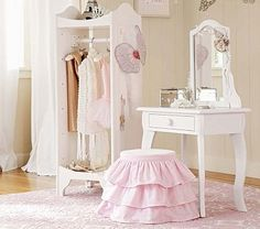 Claire Vanity and Stool #PotteryBarnKids