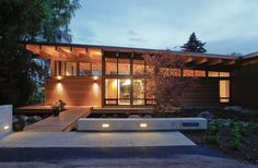 """Portland-based studio Scott Edwards Architecture has completed the Hotchkiss Residence in 2010. Built by Hammer & Hand, this new contemporary 1,988 square foot home is located on the Columbia river in Vancouver, Washington.                Hotchkiss Residence by Scott Edwards Architects: """"The owners, a couple in their 70's who have lived on the property for over 40 years, sought to rebuild their modular home which had outlived its lifespan. They desired a """"simple living"""" space. The 1,988 SF…"""