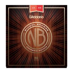 D'Addario NB1356 Nickel Bronze Medium Acoustic Guitar Strings 13-56