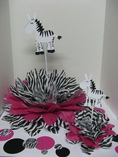 RESERVED For Charlene Zebra Centerpieces. Zebra CenterpiecesBaby Shower ...