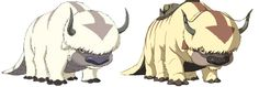 """Avatar and LOK """"So If you have been wondering how Appa bred and why there are so so many flying bisons here is the answer: During a San Diego Comic-Con, it was revealed that Avatar Aang found a whole new herd of sky bison. The new subspecies has a few differences, for example: old bison had four transversed strips plus the last one, that lies at the end of the tail, whereas the new species has more strips that are thinner. The new bison also have brown fur on their ears instead of white."""""""