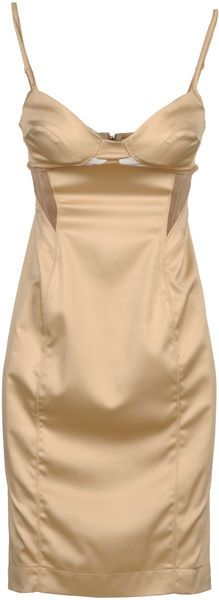 Just Cavalli Short Dress in Beige~love