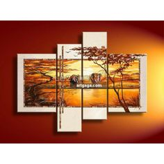 Get this beautiful decorative 4 panel oil #painting with Wall of Frame option. 100% hand painted with free shipping offer. Order now!